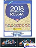 #10: 2018 Panini FIFA World Cup Russia MASSIVE 50 Pack Factory Sealed Sticker Box with 250 Stickers Plus BONUS (2) LIONEL MESSI Card Packs! Look for Top Stars Ronaldo, Messi, Neymar,Neuer & More! WOWZZER!