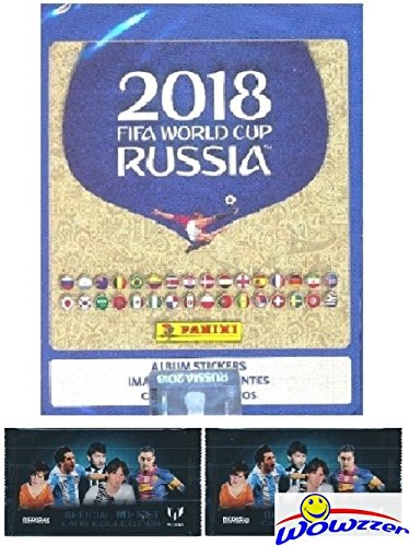 Russia Card (2018 Panini FIFA World Cup Russia MASSIVE 50 Pack Factory Sealed Sticker Box with 250 Stickers Plus BONUS (2) LIONEL MESSI Card Packs! Look for Top Stars Ronaldo, Messi, Neymar,Neuer & More! WOWZZER!)