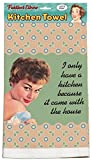 ''I Only Have A Kitchen Because It Came With The House'' 100% Cotton, Eco-Friendly Dish Towel, Kitchen Towel With Hanging Loop, Dish Towel With Quote, Novelty Kitchen Towel