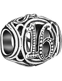 Authentic Chamilia Sterling Silver Milestones Charm 16 2010-3318