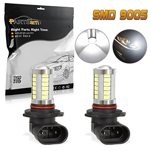 Partsam TWO 9005 HB3 9040 Cool White 800Lumens Fog Driving Light Epistar 5730 Chip Projector Vehicle Led