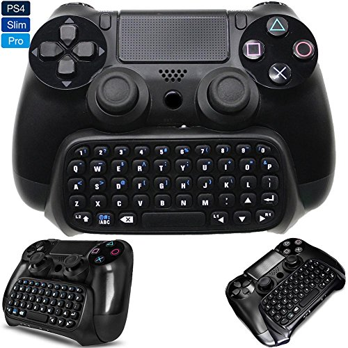 Whiteoak PS4 Keyboard, Bluetooth Wireless Mini Chatpad, Great KeyPad Adapter for Playstation 4 PS4, Slim, Pro Controller