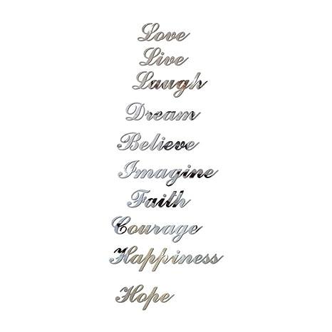 Bleumoo Acrylique Effet Miroir Citation D Escalier Word Art