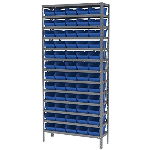 Akro-Mils AS1279130B Steel Shelving Kit, 60 Bins, 12