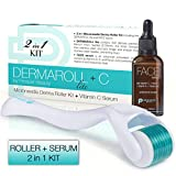 Best Derma Roller For Stretch Marks - Derma Roller Microneedle + Vitamin C Serum Kit Review