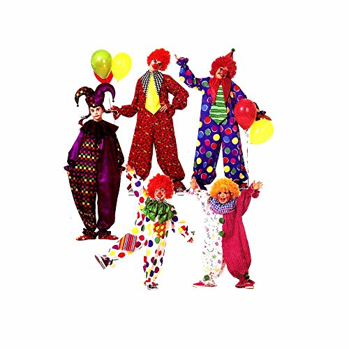 McCall's 3306 Sewing Pattern Clown Costumes Bust / Chest 31 1/2 - 32 1/2 (Clown Costume Patterns)