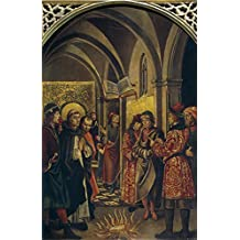 Oil painting 'Berruguete Pedro La prueba del fuego (Santo Domingo y los albigenses) End of 15 Century ' printing on polyster Canvas , 16 x 25 inch / 41 x 63 cm ,the best dining Room decor and Home artwork and Gifts is this Vivid Art Decorative Canvas Prints