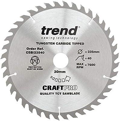 Trend CSB//23540 Craft Saw Blade 235 mm x 40 T X 30 mm