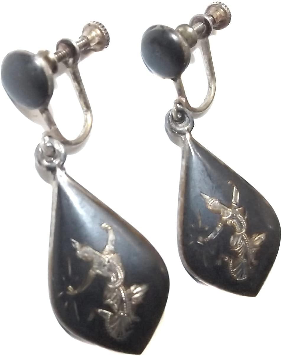 Vintage Danecraft sterling screw back earrings mid century Danish modern high dome ball screw back earrings