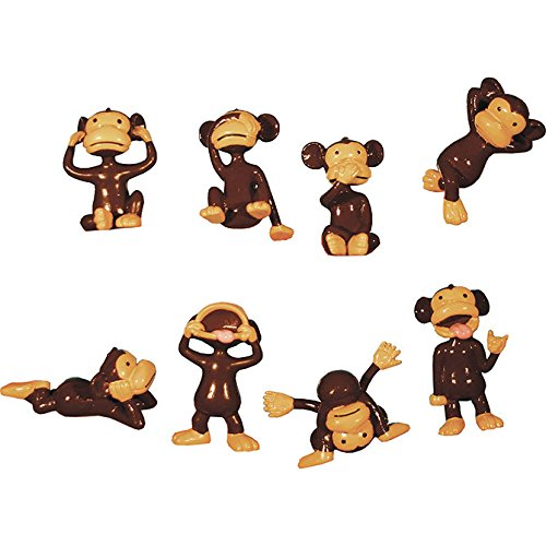 Monkeyin' Around Silly Poses Figurines - 10 Monkeys ()