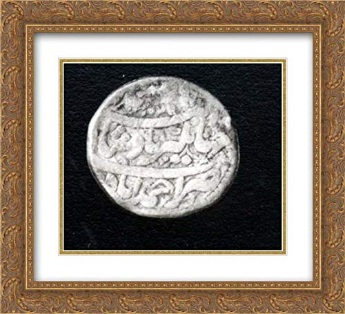 Islamic Art - 22x20 Gold Ornate Frame and Double Matted Museum Art Print - Group of Zodiac Coins-Aries, Leo, Pisces, Taurus, Capricorn (Coin Pisces Zodiac)