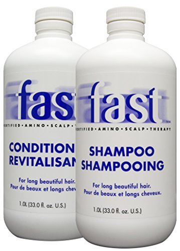 Fast Growing Shampoo and Conditioner (33oz each) for Long Beautiful Hair by Nisim