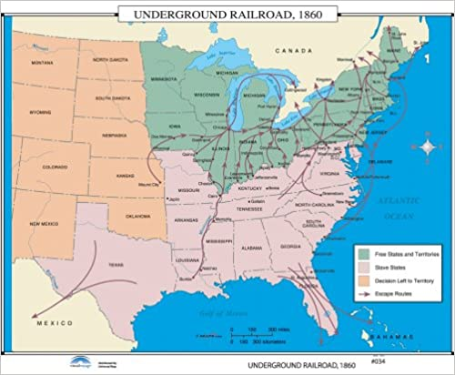 Amazoncom Underground Railroad Us History Wall Maps - Railroad-map-of-the-us