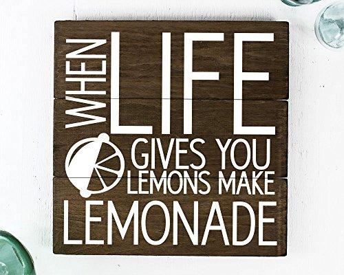 Farmhouse o país decoración de cocina cuando la vida te da limones