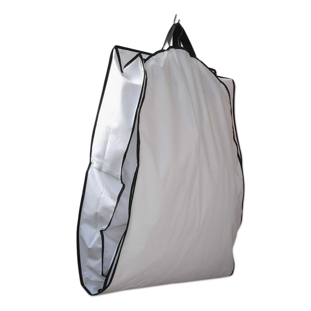 Cysline White 72 inch Showerproof Wedding Ball Gown Prom Dress Garment Cover Bag with 12 inch Gusset