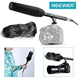 Neewer® Microphone Kit 14.37inch Uni-Directional System Condenser Shotgun Microphone with NW-MIC-121 Furry Windscreen Muff for Canon Nikon Sony Olympus Pentax Panasonic and Other Camcoders