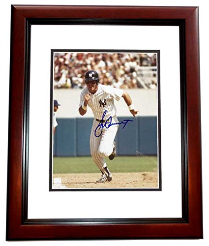 - Bucky Dent Signed - Autographed New York Yankees 8x10 inch Photo MAHOGANY CUSTOM FRAME