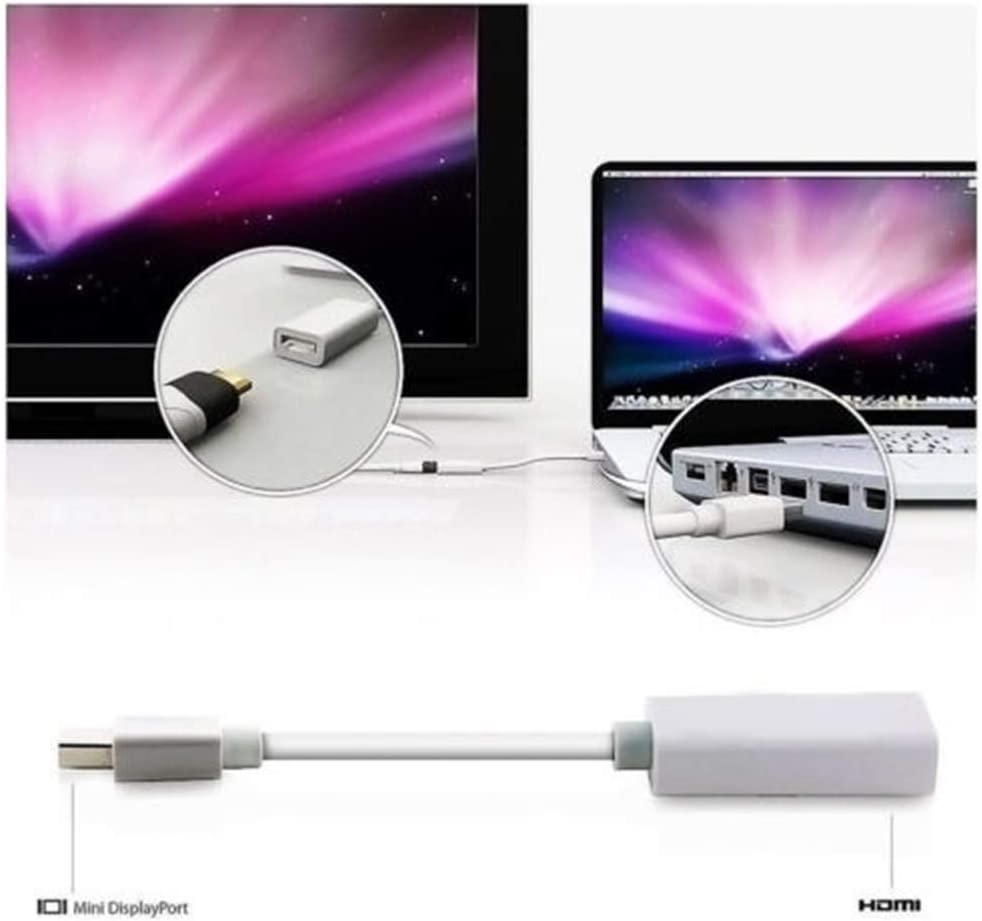 Thunderbolt Mini Display Port DP to HDMI Adapter Cable Converter for MacBook Pro Air Mac