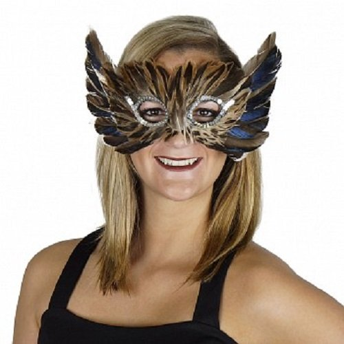 Brown Masquerade Masks (Zucker Feather Products MBARNOWL--N Barn Owl Mask)