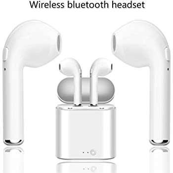 Bluetooth Headset, Wireless Headset, in-Ear Anti-Sweat Noise Reduction Wireless Bluetooth Earbuds. Compatible with iOS Android and Other Smartphones.