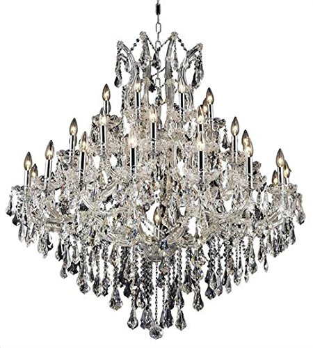 Karla Chrome Traditional 37-Light Grand Chandelier Heirloom Handcut Crystal in Crystal (Clear)-2381G44C-RC--18