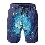 NTK0SKAI Mans Deer Under The Stars Swimming Shorts Perfect Match Beach Pants X-Large