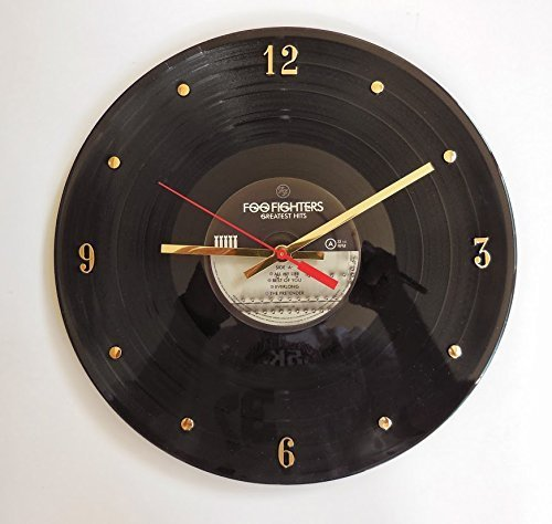 Record Clock - Foo Fighters (Greatest Hits). Handmade 12