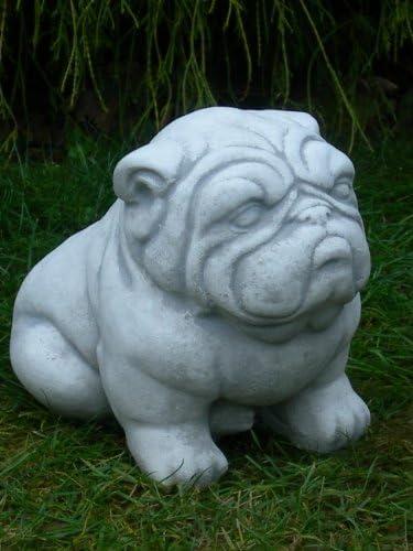 Figur Hund Boxer H 32 cm Tierfigur Gartenfigur aus Beton