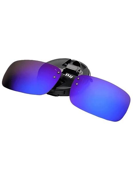 Azue Herren Polarisierte Brillenglas für Brillenträger Überzieh-Sonnenbrille Sonnenbrillen-Clip Blau CHWfhnyD