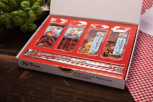 Salami Wurst Probier-Paket Snack Selection Geschenkbox – 7 verschiedene Produkte – 390 g