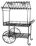 Deer Park Steel Flower Cart, Large, Black