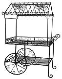 Deer Park Steel Flower Cart, Large, Black For Sale