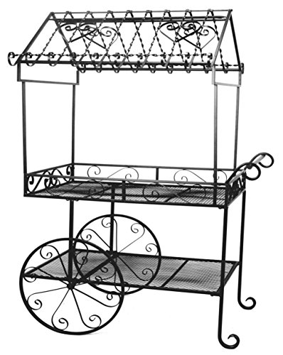 Deer Park Steel Flower Cart, Large, Black by Deer Park