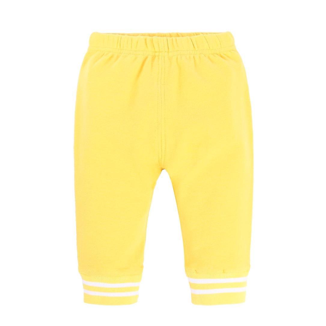 Voberry Toddler Children Trousers Baby Girls Boys Striped Winter Warm Pants Leggings