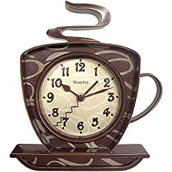 Westclox W32038 NYL32038-WESTCLOX 32038 Coffee Time 3-Dimensional Wall Clock, Brown