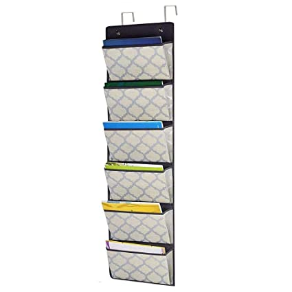 Beau Over The Door Hanging File Organizer, Fabric Office Supplies Wall Mount  Collapsible Storage Folder Holder