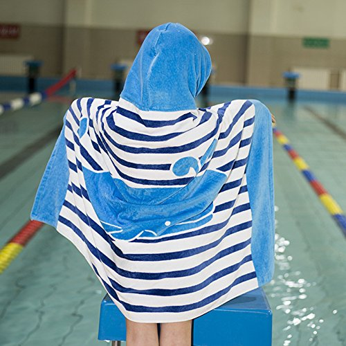 Bath Kids Row (EDTara Cotton Beach Towel Big Size Children Adult Bath Swimming Hooded Towel Buckles Cloak)
