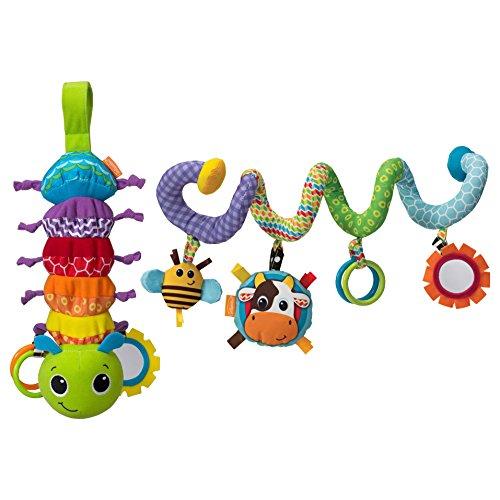 Infantino Spiral Activity Toy with Hug & Tug Musical Bug