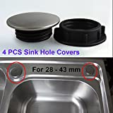 4 Packs Kitchen Sink Tap Hole Blanking Plug Cover Plate Disk, SUS 304 Stainless Steel, for φ 1 ~ 1.4 Inch (28-44mm)