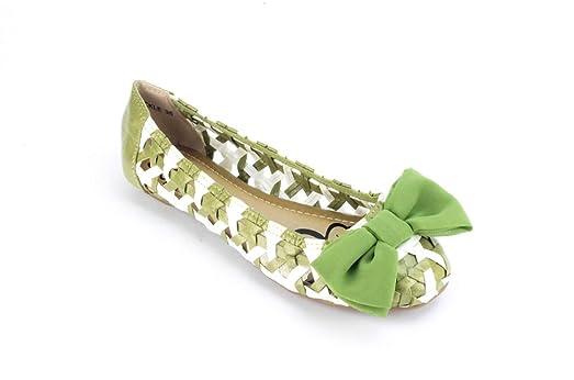Spring Step Patrizia Tickle Green Leather Ballet Flats US 7.5-8 EU 38