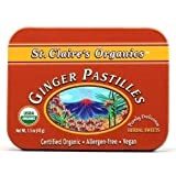 St. Claire's Organic Candy, Ginger Pastilles, 1.5 Ounce (Pack of 6)