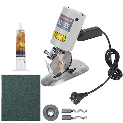 Electric Cloth Cutter, Octagonal Knife Cloth Cutting Machine Round Knife Rotary Blade Fabric Cutter Scissors for Multi Cloth Leather Wool Cutting 220V