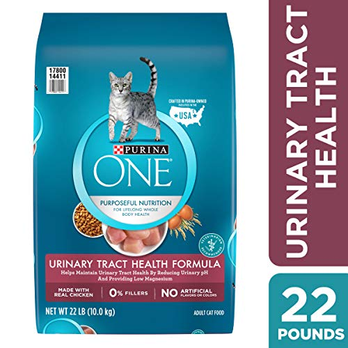 Purina ONE Urinary Tract Health Dry Cat Food; Urinary Tract Health Formula - 22 lb. Bag (Best Foods For Bladder Health)