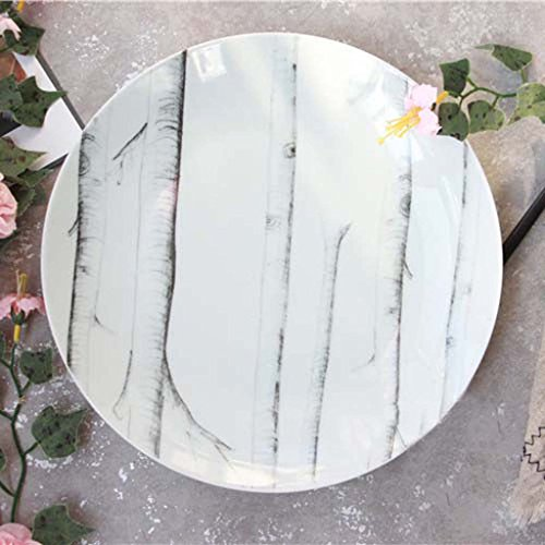 Ceramic Tableware, Western-style Round Tray, Ceramic Steak Flat