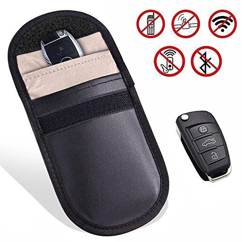 Keyfob RFID Signal Blocking Bag Faraday Cage, Key Fob Guard Protector Device Shielding, Anti-hacking Assurance For Wireless Car Keys, KeyFOBs, Keyless Entry, Car Key Remotes, Credit Card Protection (Entry Keyless Audi)