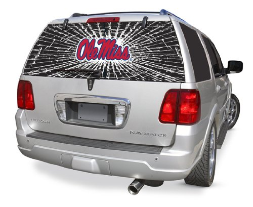 Mississippi Rebels Shattered Auto Rear Window Decal