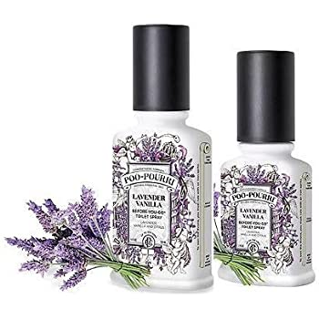 Poo-Pourri Preventive Bathroom Odor Spray 2-Piece Set, Includes 2 4-Ounce Bottle, Lavender Vanilla, Clear