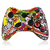 For Xbox 360 Wireless Controller Full Housing Hydro Dipped Sticker Bomb Skull Controller Shell Case Button Kit Replace Parts For Sale