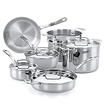 The French Chefs 10 Piece 5 Ply Stainless Steel Cookware Set