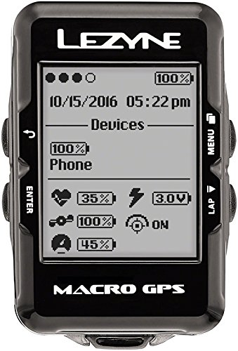 Lezyne Macro GPS, Black, One Size by Lezyne
